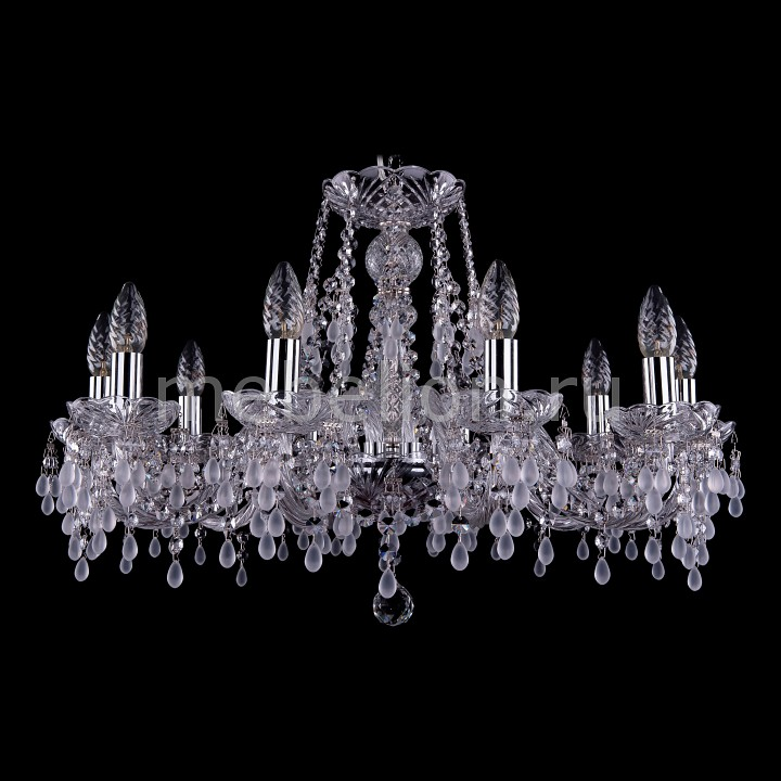 Подвесная люстра Bohemia Ivele Crystal 1410/10/240/Ni/V0300 bohemia ivele crystal 1410 6 160 ni v0300 sh2