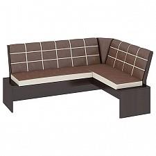 Уголок кухонный Мебель Трия Диван Кантри Т1 исп.2 венге/темно-коричневый