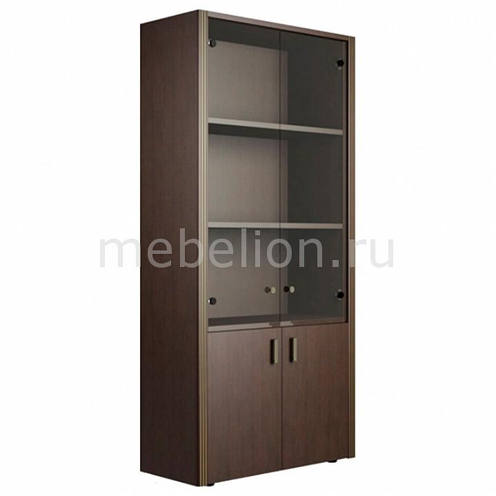 Шкаф для офиса pointex harvard hvd22502 темный орех domaster.