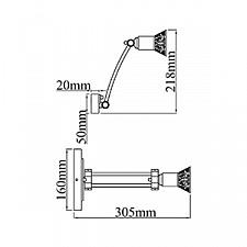 Светильник на штанге Maytoni PIC120-01-G Rublev