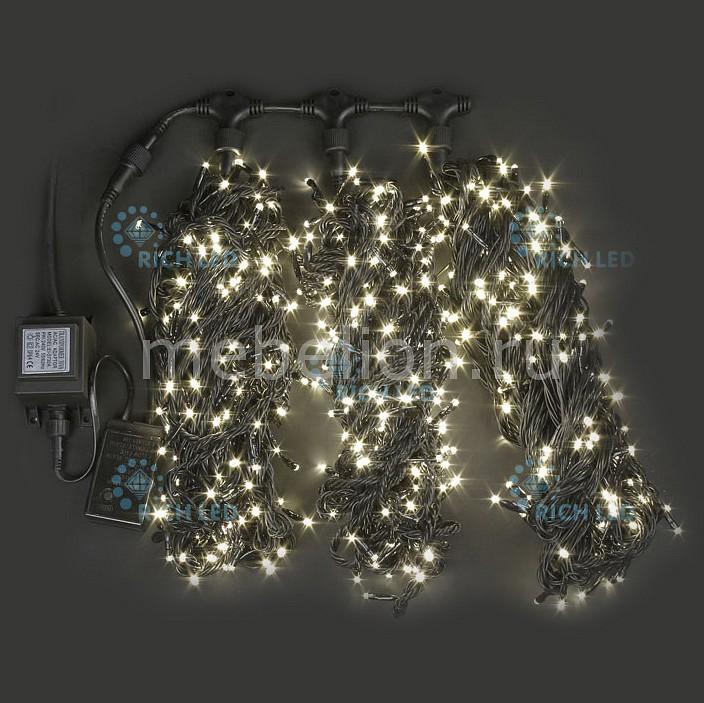 Гирлянда на деревья RichLED (3х20 м) RL-T3*20N2-B/WW гирлянда электрическая lunten ranta сосулька 20 светодиодов длина 2 85 м