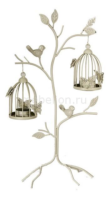 Подсвечник декоративный Акита (48 см) Клетка с птичкой 16378 подсвечник декоративный акита 48 см клетка с птичкой 16378