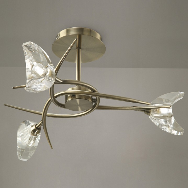 Люстра на штанге Mantra 1475 Eclipse Antique Brass