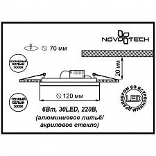 Встраиваемый светильник Novotech 357317 Lago
