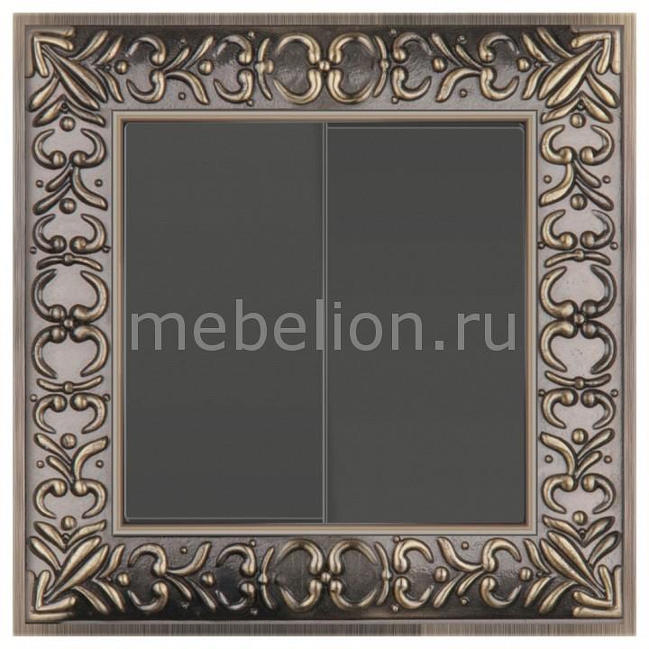 Выключатель двухклавишный Werkel Antik (Серо-коричневый) WL07-SW-2G+WL07-SW-2G  цена и фото