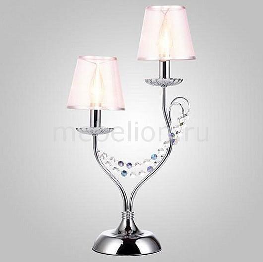 Купить Настольная лампа декоративная 01069/2 хром/прозрачный хрусталь Strotskis, Eurosvet, Китай