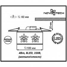 Встраиваемый светильник Novotech 357303 Pastel