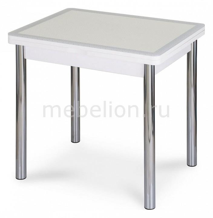 Стол обеденный Домотека Чинзано М-2 со стеклом и экокожей дверка каминная дтк со стеклом