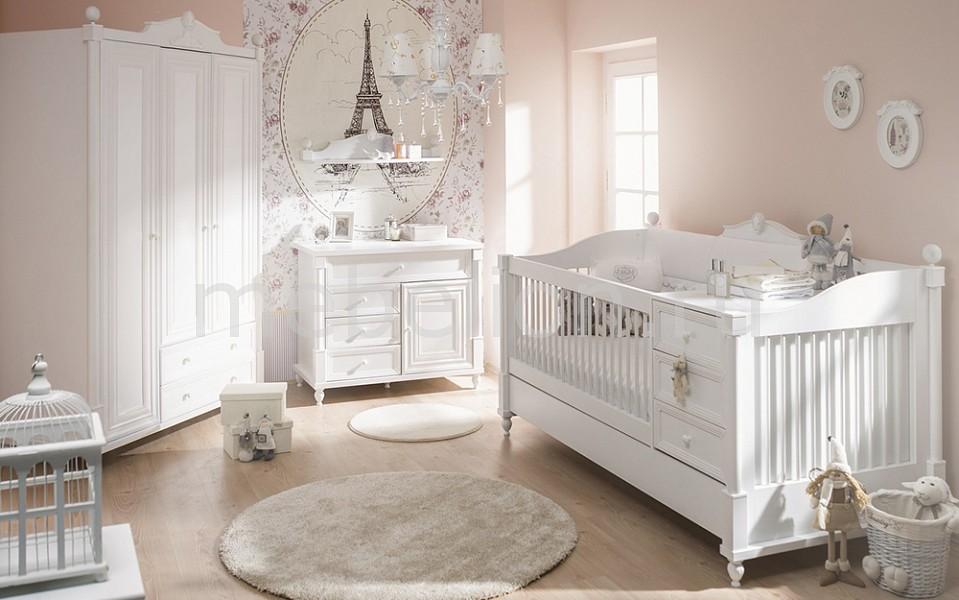 Гарнитур для детской Angel Baby белый