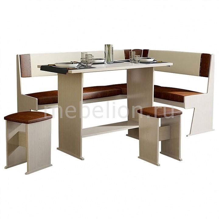Набор кухонный Мебель Трия Уголок кухонный Амиго дуб девон/темно-коричневый/бежевый уголок кухонный мебель трия норд