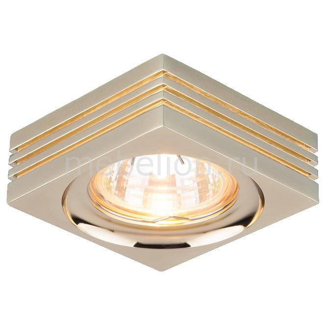 Фото - Встраиваемый светильник Elektrostandard 6064 MR16 GD a029885 cветильник галогенный de fran встраиваемый 1х50вт mr16 ip20 зел античное золото