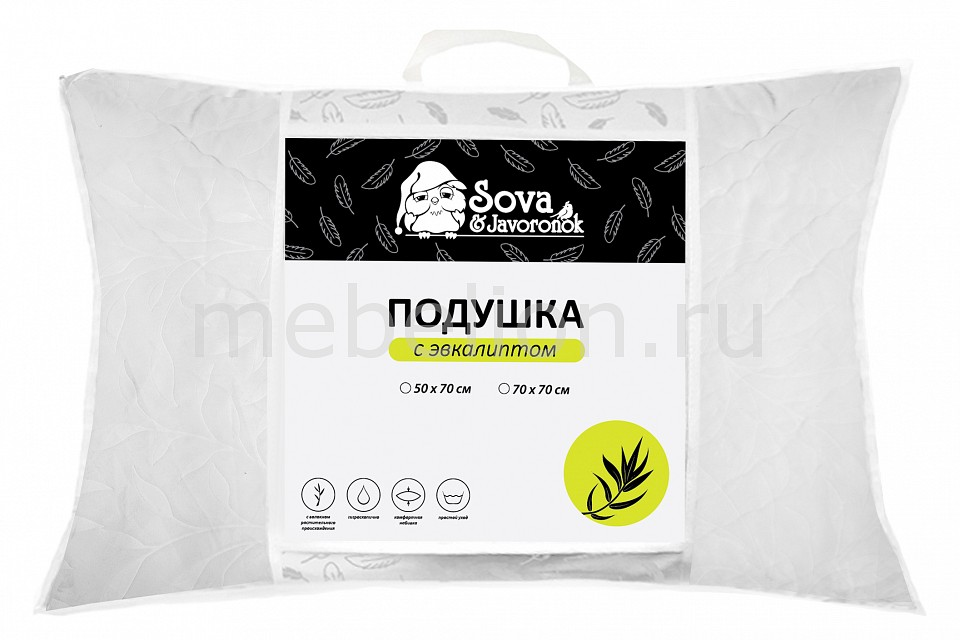 Подушка Сова и Жаворонок (50х70 см) Эвкалипт СиЖ одеяло евростандарт сова и жаворонок шелк сиж