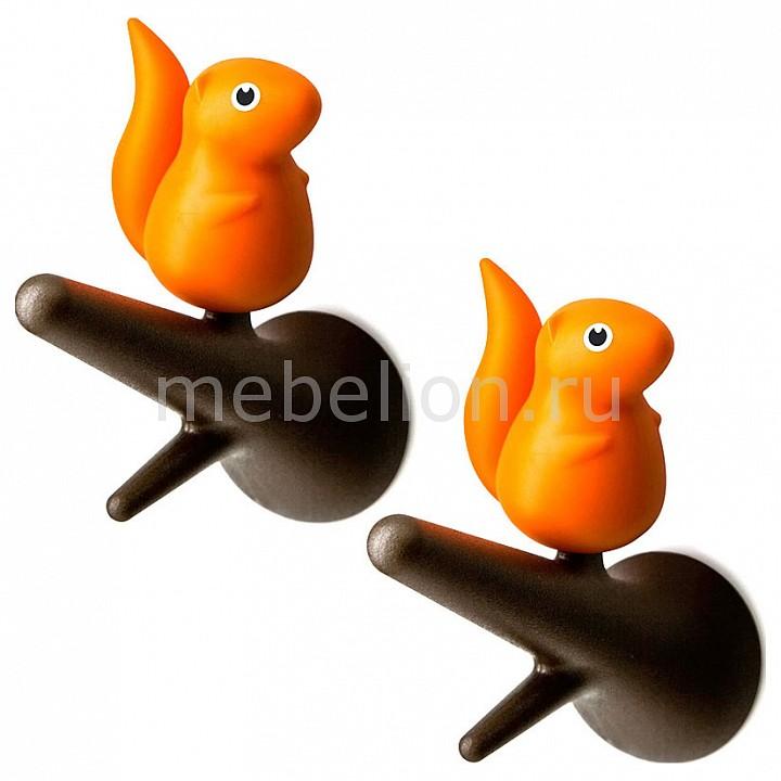 Крючок декоративный Umbra Набор из 2 крючков декоративных Qualy QL10088-BN-OR  набор вешалок qualy 2 шт настенные squirrel