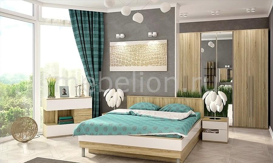 Гарнитур для спальни Ирма 14 дуб сонома/белый глянец mebelion.ru 0.000