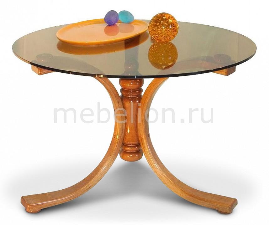 Стол журнальный Мебелик Лорд среднекоричневый