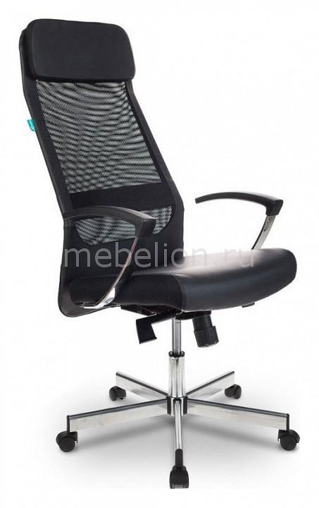 Кресло для руководителя Бюрократ T-995SL/BLACK кресло руководителя бюрократ t 995sl на колесиках искусственная кожа сетка черный [t 995sl black]