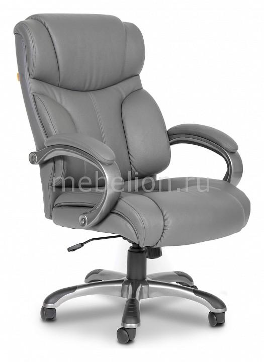 Кресло для руководителя Chairman Chairman 435 серый/черный chairman кресло руководителя chairman ch 435 коричневая кожа
