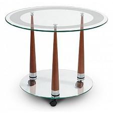Стол журнальный Мебелик Квартет 13 среднекоричневый