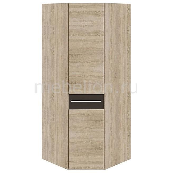 Шкаф платяной угловой Ларго СМ-181.07.006 дуб сонома/какао глянец