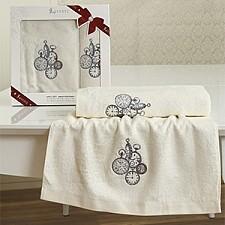 Набор из 2 полотенец для ванной LANCETTA
