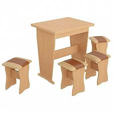 Набор кухонный Мебель Трия тип 3 бук/коричневый