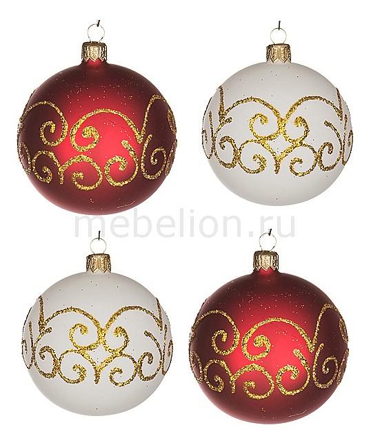 Набор из 4 елочных шаров (7.5 см) Гармония 860-501