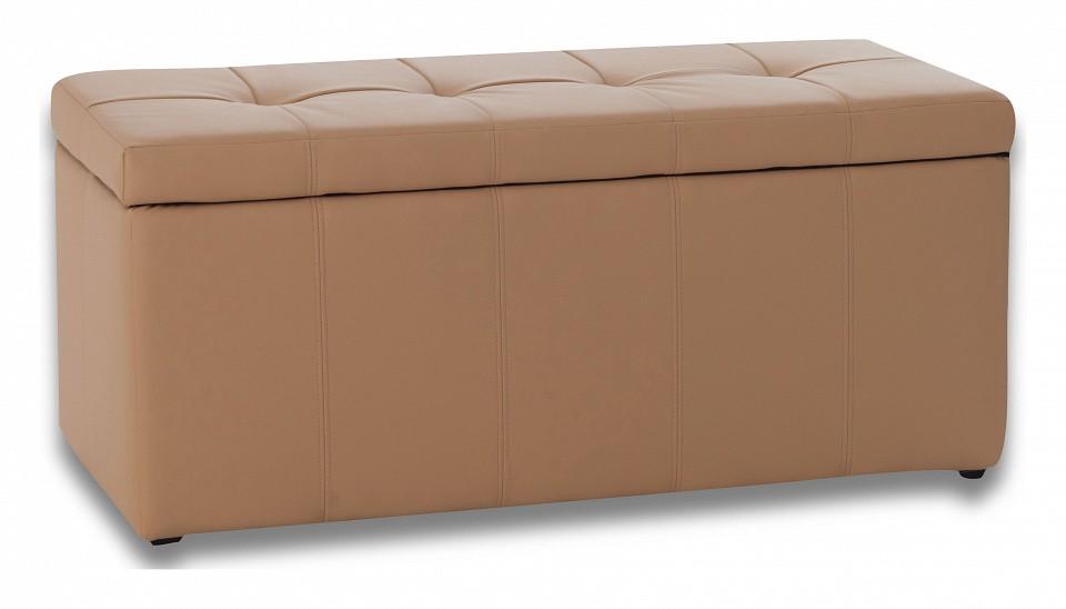 Банкетка-сундук Dreambag Лонг бежевая пуф dreambag лонг коричневая кожа