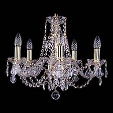 Подвесная люстра Bohemia Ivele Crystal 1406/5/160/G/Balls 1406