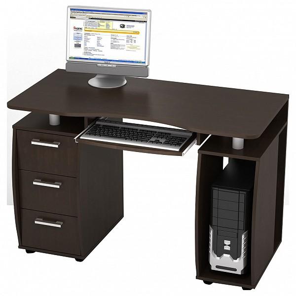 Стол компьютерный Дрофа КС-12М венге Стол компьютерный Дрофа КС-12М венге NYA_kc-12m_d_wenge