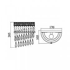 Накладной светильник Maytoni T522-WB1-G Cascade
