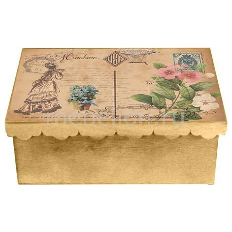 Шкатулка декоративная (26х18х13 см) Дама 1826-15