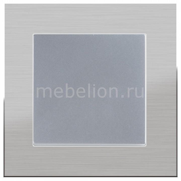 Выключатель одноклавишный Werkel без рамки Aluminium(Серебряный) WL06-SW-1G-LED+WL06-SW-1G цена и фото