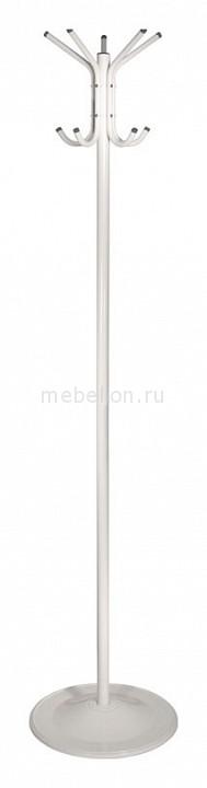 Вешалка напольная Бюрократ Вешалка-стойка Бюрократ CR-001 белый основание круглое металлическая H180 см, основ. D36см