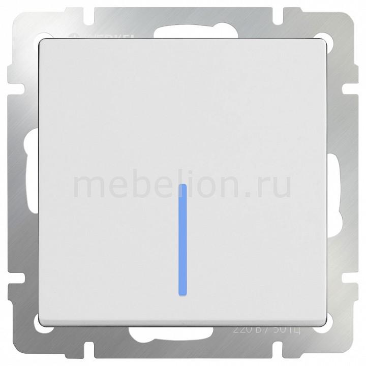 Выключатель проходной одноклавишный с подсветкой без рамки Werkel Белый WL01-SW-1G-2W-LED бра colosseo susanna 80311 2w