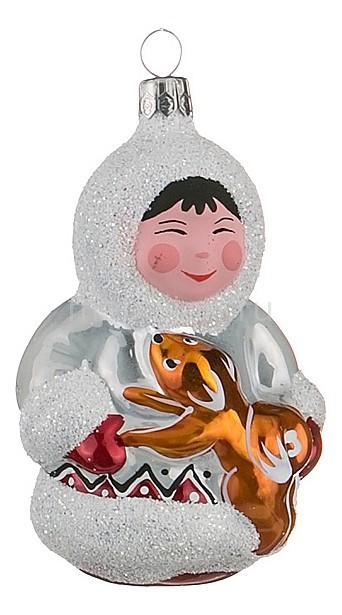 Елочная игрушка (8 см) Мальчик с собакой 860-346