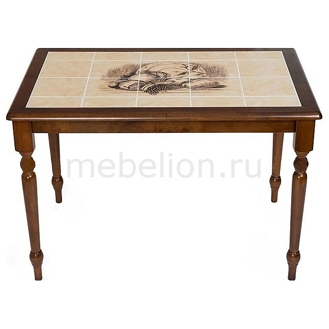 Стол обеденный Tetchair CT 3045P дуб темный с рисунком Натюрморт