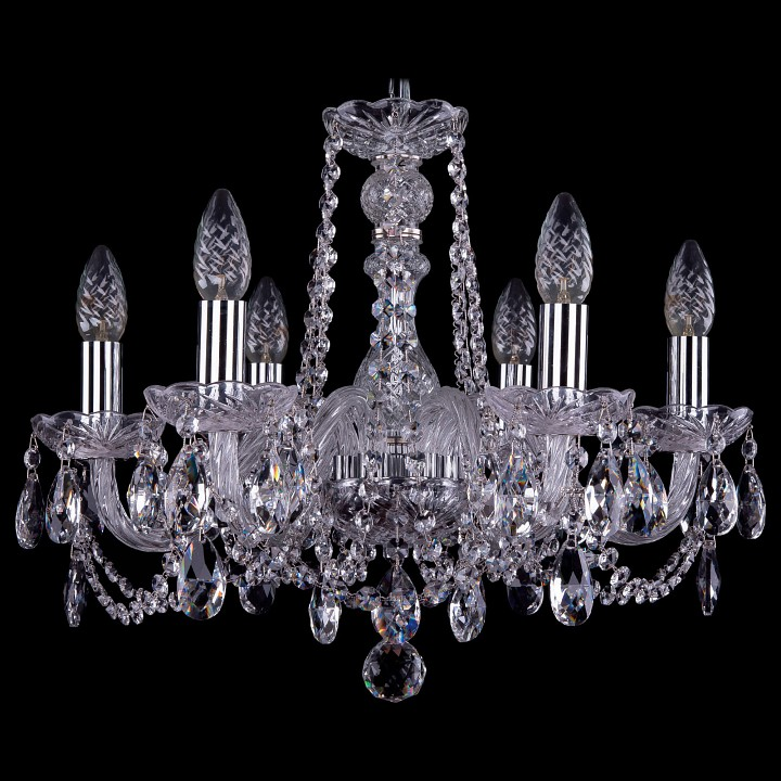 Подвесная люстра Bohemia Ivele Crystal 1402/6/160/Ni 1402