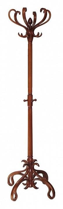 Вешалка напольная Мебелик Вешалка-стойка В-4Н средне-коричневая мебелик вешалка напольная в 6н светло коричневая ifm ypsc