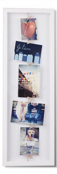 Купить Мультирамка (72.4х24 см) Clothesline 311020-660, Umbra, Россия, белый, полистирол