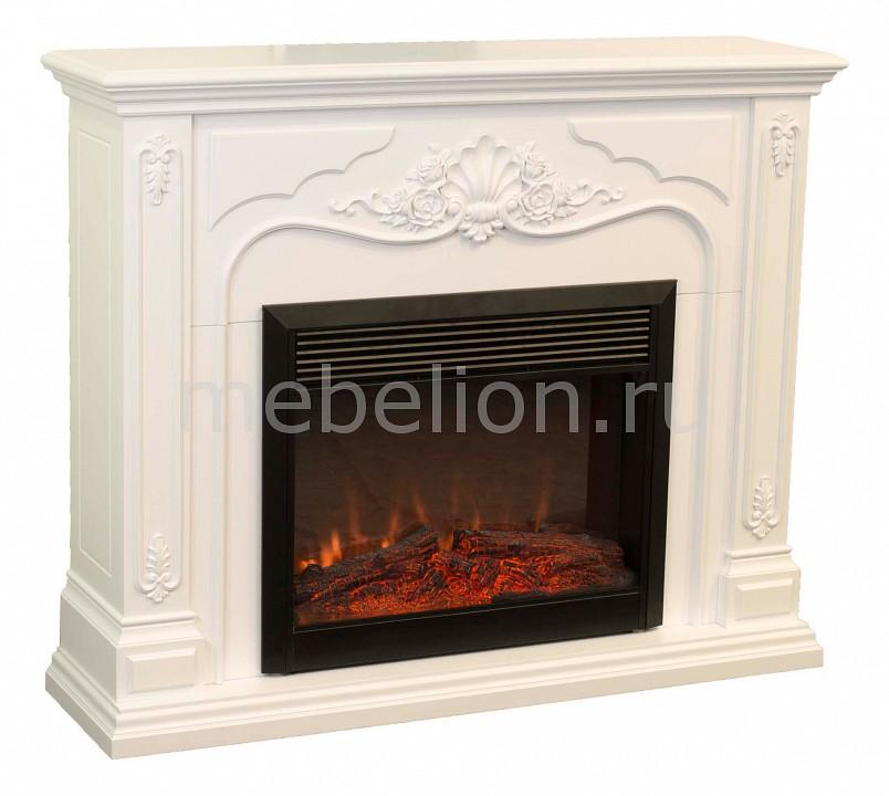Купить Электрокамин напольный (131.5х36х108 см) Victoria 00000003930, Real Flame, Россия, белый, железо, МДФ, стекло