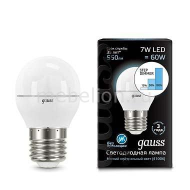 Лампа светодиодная Gauss 1051 E27 180-240В 7Вт 4100K 105102207-S