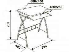 Стол компьютерный GD-003 прямой белый