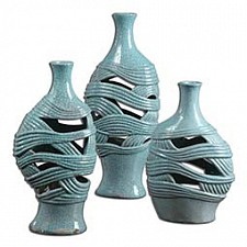 Ваза настольная Uttermost Набор из 3 ваз настольных Glesig 19692