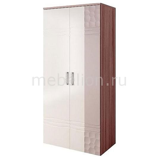 Шкаф платяной Мокко 33.07 ясень шимо темный/капучино глянец/магнолия глянец