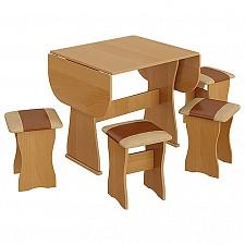 Набор кухонный Мебель Трия тип 4 бук/коричневый
