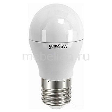 Лампа светодиодная Gauss Elementary Globe 6Вт 4100K LD53226 global elementary coursebook with eworkbook pack