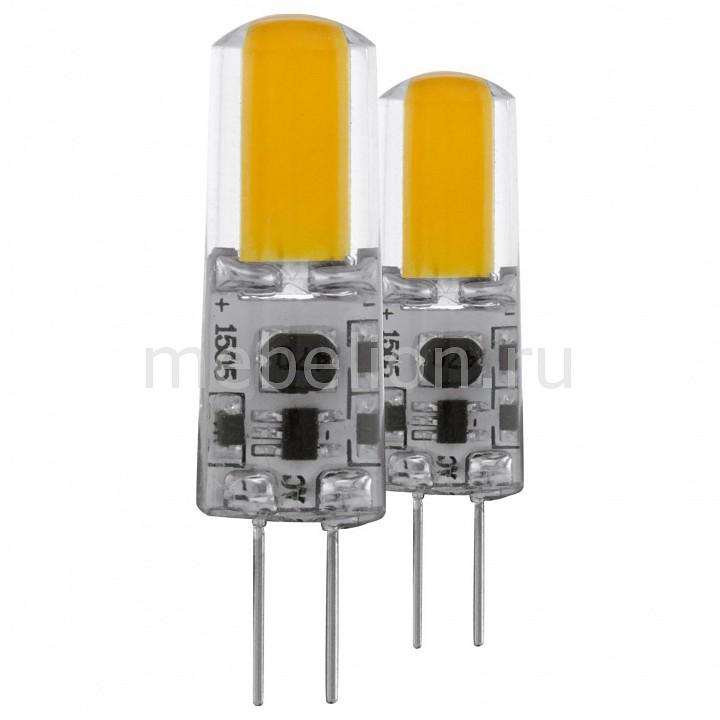 Комплект из 2 ламп светодиодных [поставляется по 10 штук] Eglo Комплект из 2 ламп светодиодных Led лампы G4 2700K 220-240В 1,8Вт 11552 [поставляется по 10 штук] комплект из 2 ламп светодиодных eglo led лампы g4 2700k 220 240в 1 2вт 11551