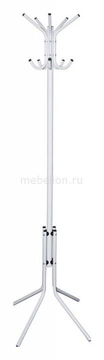 Вешалка-стойка Бюрократ CR-002 белая/металлик