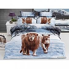 Комплект полутораспальный Arya Сатин Печатное 3D Wınter Lions F9829141
