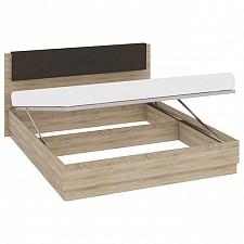 Кровать двуспальная Ларго СМ-181.01.003 дуб сонома/какао глянец